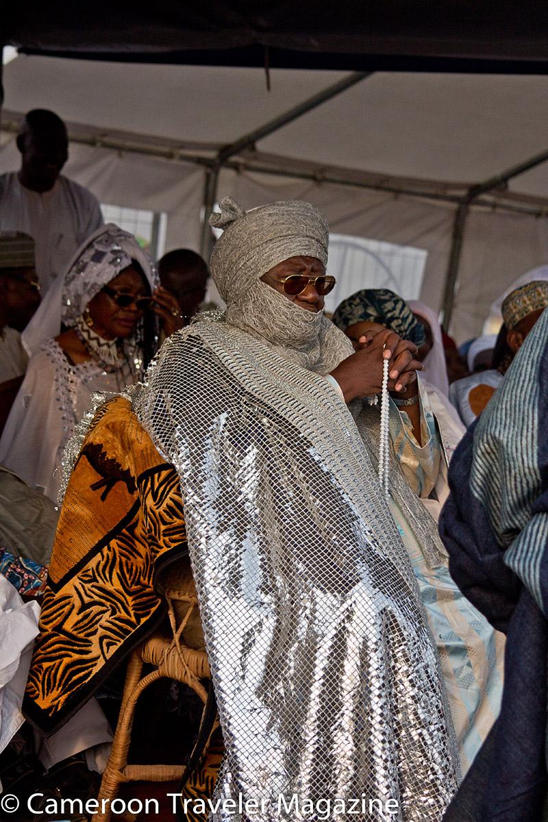 Le Roi pendant la cérémonie d'ouverture