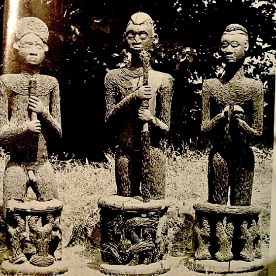 The three Afo-a-Akom Statues set