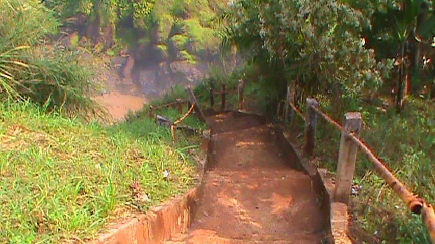 stairs leading downstream