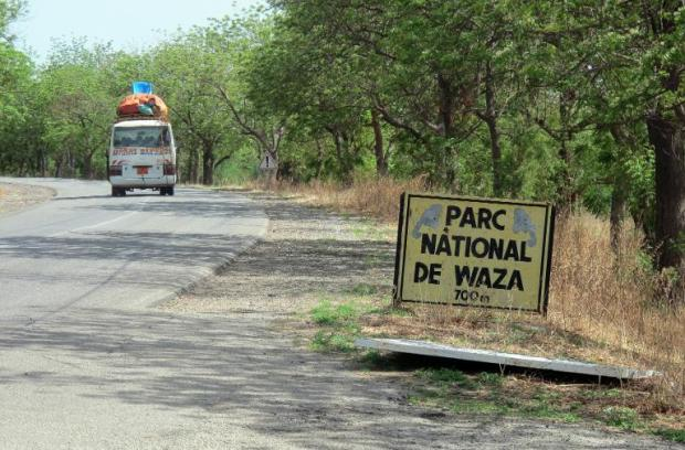 Photo taken on May 28, 2014 shows the entrance to Waza National Park, northern Cameroon