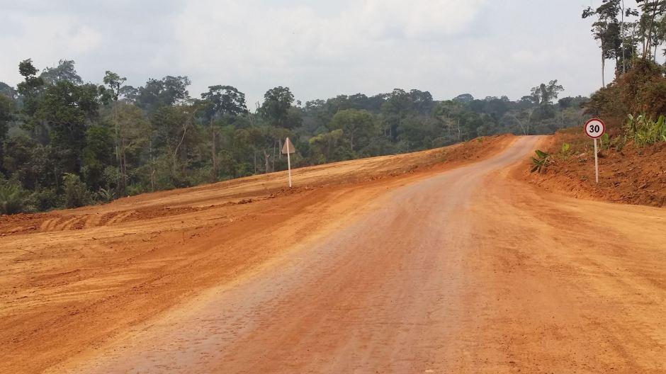 Travaux de construction de l'autoroute Douala-Yaoundé (c) Albin Michel Njilo