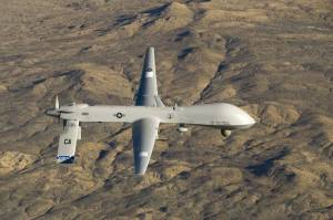 A U.S. Air Force MQ-1 Predator flies near Victorville, Calif. On Wednesday, the U.S. Defense Department said it would deploy the drones and up to 300 troops to West Africa to garner intelligence on the Boko Haram militant group. Photo: Tech. Sgt. Effrain Lopez/U.S. Air Force/Reuters
